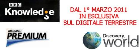 BBC Knowledge e Discovery World su Mediaset Premium:    il comunicato ufficiale