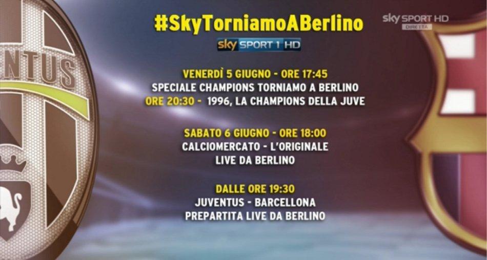 #SkyTorniamoABerlino, la marcia verso la finale Juventus-Barcellona