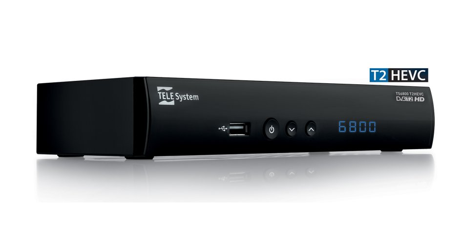 Telesystem TS6800T2 HEVC, decoder digitale terrestre basato sullo standard DVB-T2