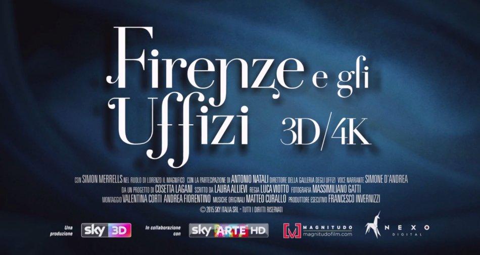 A novembre arriva nei cinema la produzione Sky Arte / 3D: Firenze e gli Uffizi 3D/4K