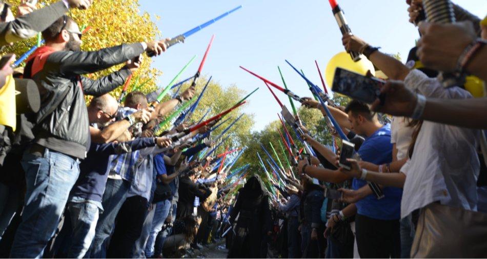 Sky Cinema Star Wars, a Lucca la battaglia delle spade laser per il lancio del canale