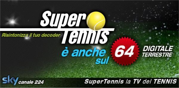 SuperTennis (canale 64) cambia frequenza, da Gennaio solo sul mux TIMB2