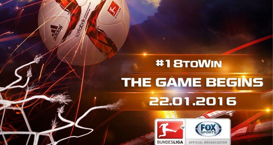 Torna stasera la Bundesliga su Fox Sports con il social game #18ToWin