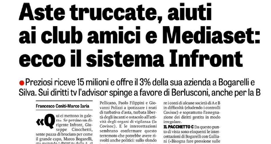 Diritti Tv Serie A, la difesa di Infront: