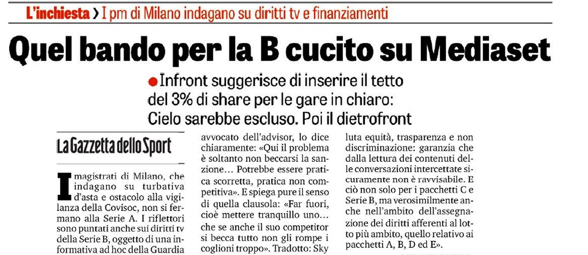 Diritti tv infront italy accuse infondate su bando serie b ad hoc per mediaset digital news - Italian ad hoc interviste ...