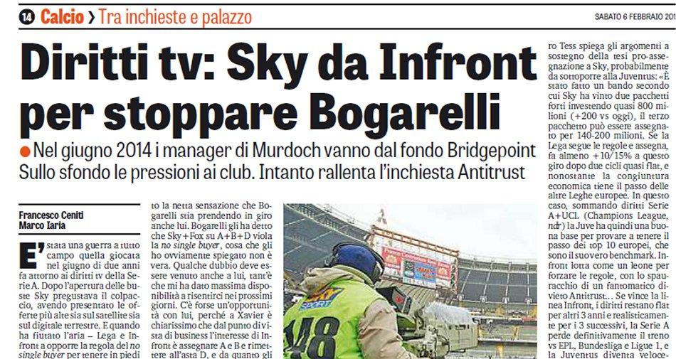 Diritti Tv, Infront Italy: