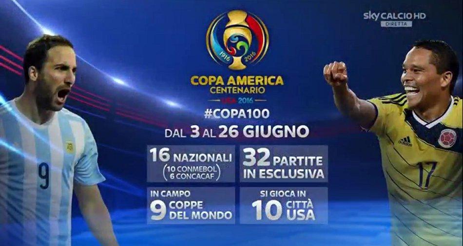 La Copa America Centenario in esclusiva su Sky Sport dal 3 al 26 Giugno 2016 #Copa100