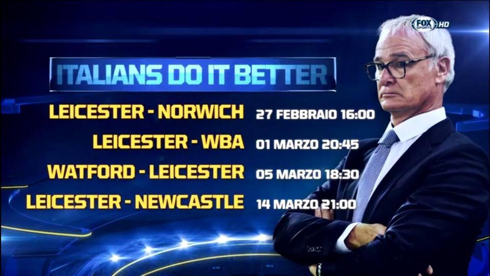 UFO Leicester lo speciale di Fox Sports sul sogno della squadra che guida la Premier