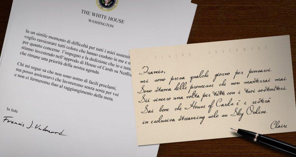 House of Cards 4a stagione in italiano, da stasera in esclusiva assoluta su Sky Atlantic HD