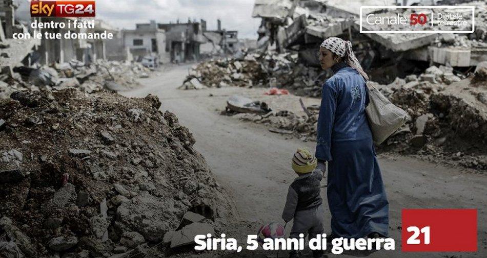 Cinque anni di guerra in Siria, programmazione dedicata su Sky TG24