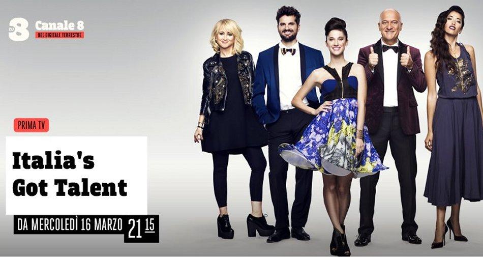 Italia's Got Talent 2016 al via in chiaro su TV8 - Canale 8 DTT (e in HD su Sky Uno)