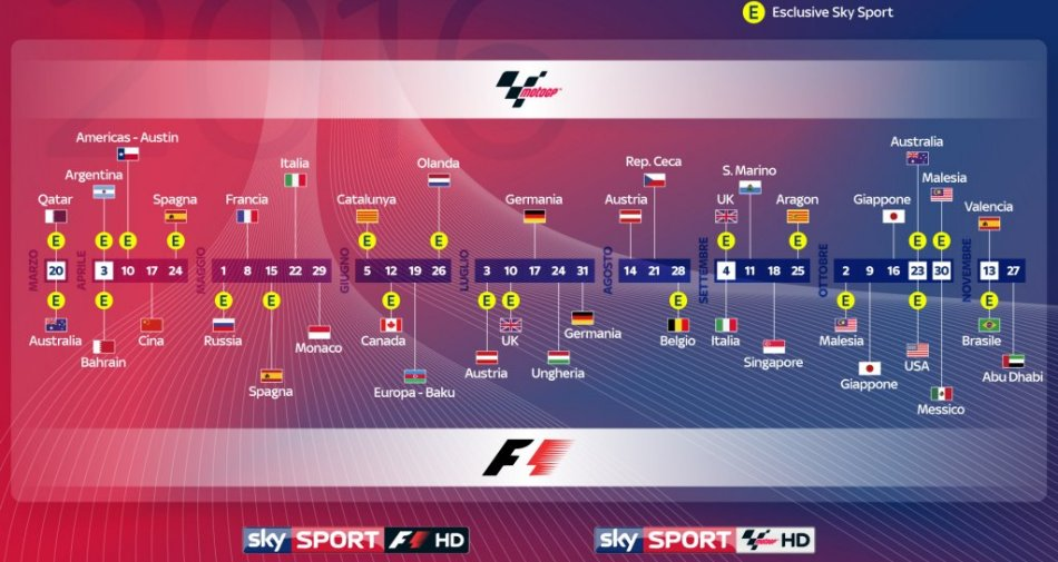 Il venerdi #SkyMotori in esclusiva dall'Australia (Sky Sport F1 HD) al Qatar (Sky Sport MotoGP HD)