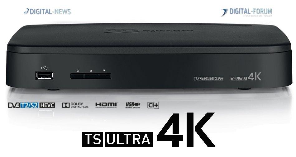 TS Ultra 4K, in anteprima la scheda tecnica del decoder Ultra HD Telesystem