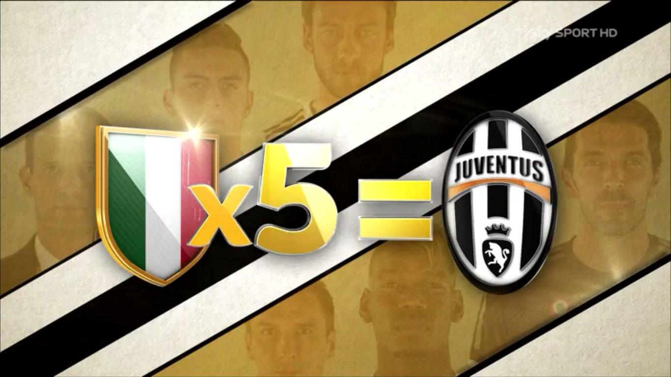 Scudetto x5, su Sky Sport gli speciali sullo scudetto 2016 della Juventus