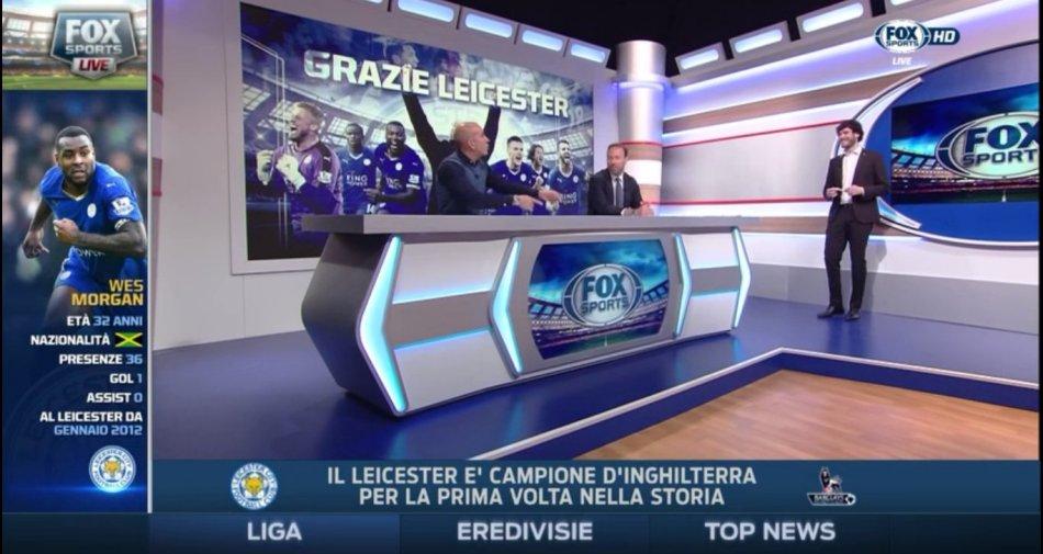 Successo Fox Sports, canale più visto della piattaforma Sky. Record anche per social Sky Sport