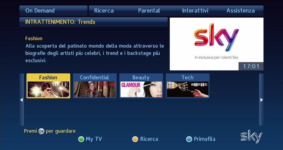Sky On Demand, nasce la sezione Trends in collaborazione con Condé Nast