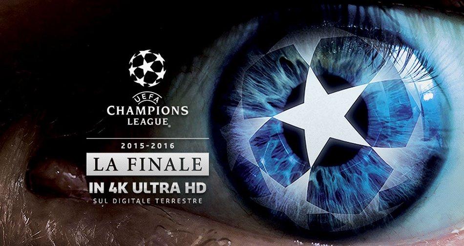 Premium prepara la finale di Champions per la prima volta anche Ultra HD 4K