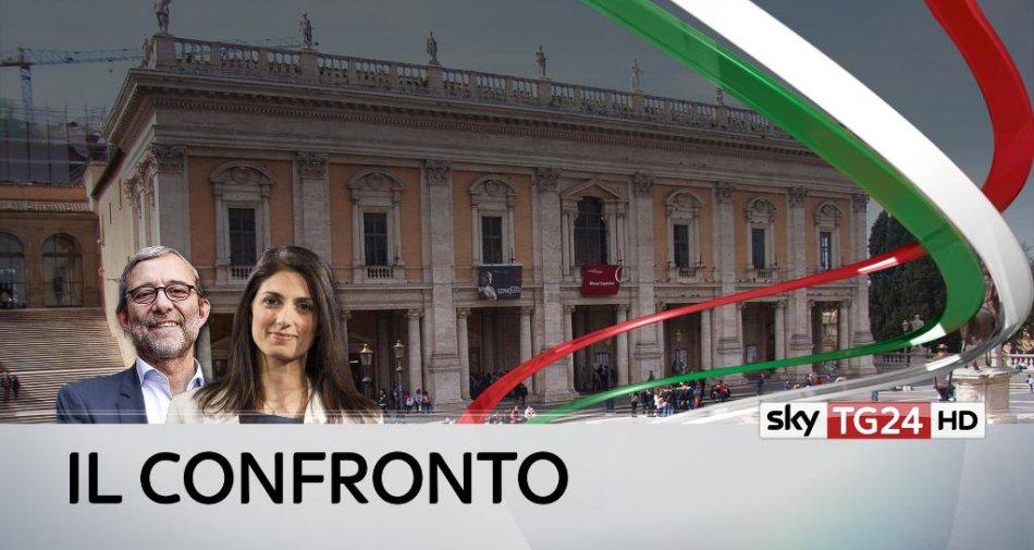 #ConfrontoSkyTG24 | Giachetti vs Raggi, su Sky TG24 e Tv8 in diretta dal Campidoglio (Roma)