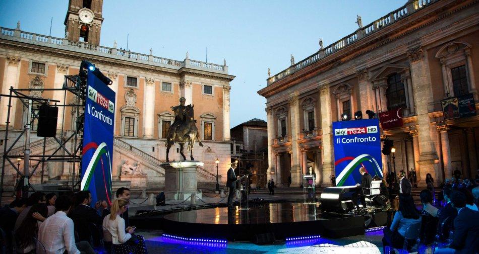 460 mila su Sky TG24 e Tv8 per il #ConfrontoSkyTG24 Giachetti / Raggi per Sindaco Roma