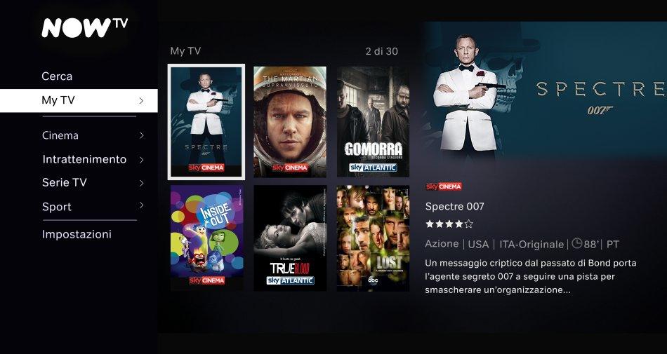 NowTv arriva in Italia, ecco tutti i dettagli della nuova Internet TV di Sky