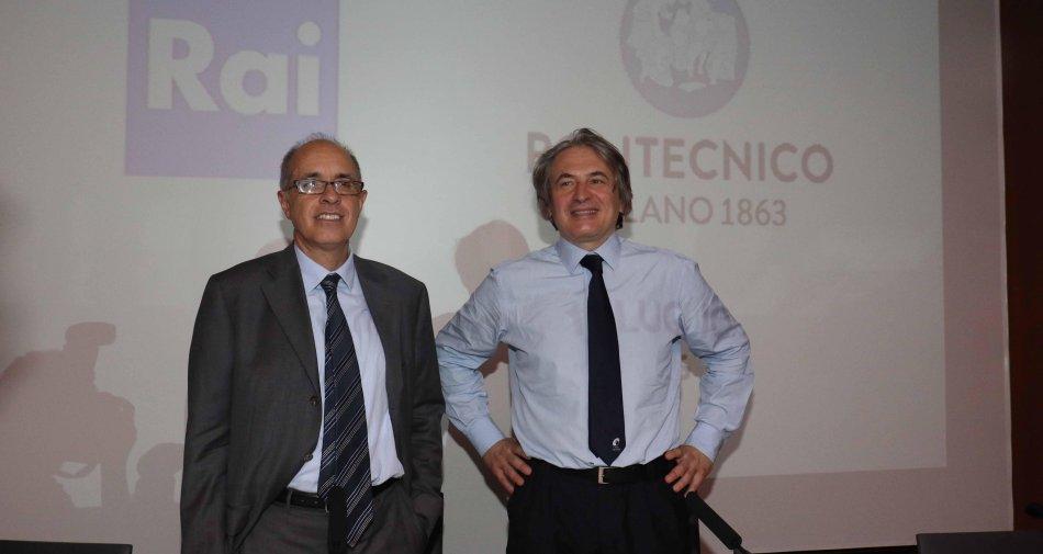 Rai e Politecnico Milano firmano accordo di collaborazione