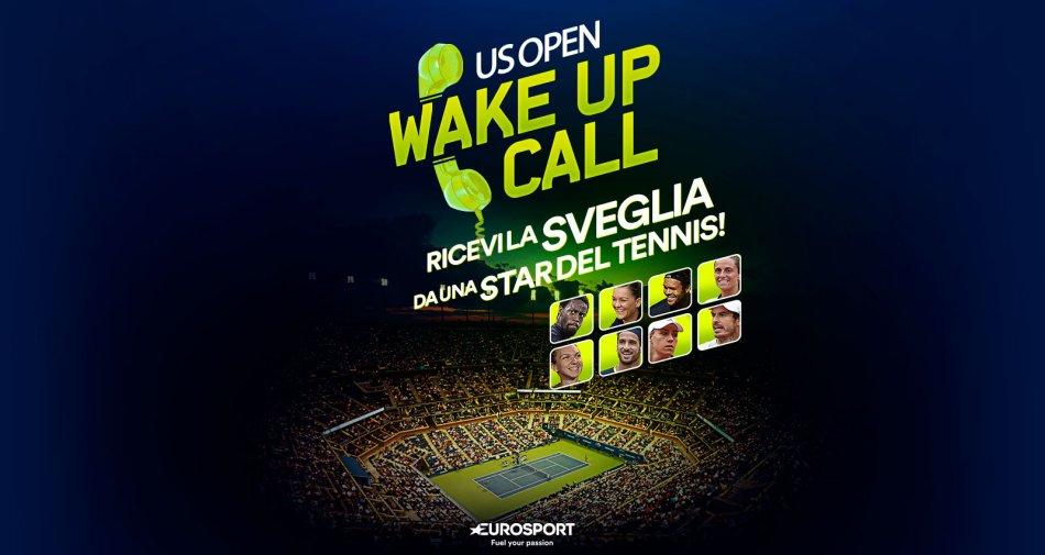 Eurosport ti sveglia al telefono per seguire le partite notturne degli US Open