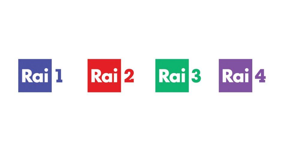 Rai, nuovi design per loghi e animazioni dei canali Rai 1, Rai 2, Rai 3 e Rai 4