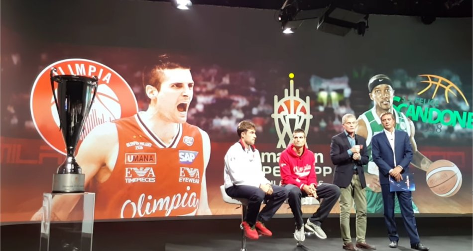 La Supercoppa in diretta esclusiva apre la stagione di Basket su Sky Sport