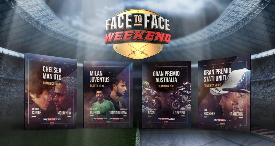 Face to Face Weekend, su Sky Sport super eventi per altrettanti duelli tra campioni