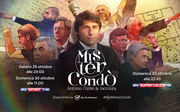 #SkyMisterCondò, Antonio Conte si racconta in esclusiva a Sky Sport (anche su Sky On Demand)