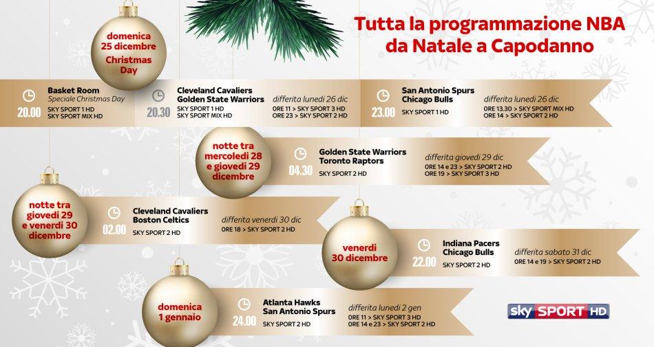 Il sito ufficiale NBA Italia in esclusiva su SkySport.it - Il 25 dicembre è Christmas Day su Sky Sport HD