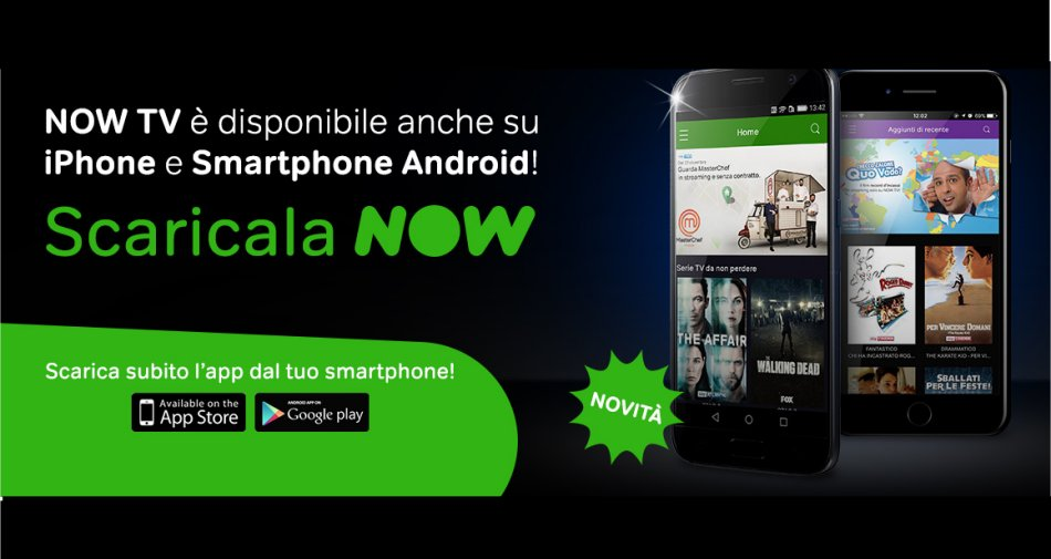 Arriva su Play Store la nuova app Now TV dedicata ai clienti con smartphone Android
