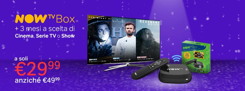 NOW TV, la nuova app Android e una speciale offerta natalizia (Box + 3 mesi a 29,99€)
