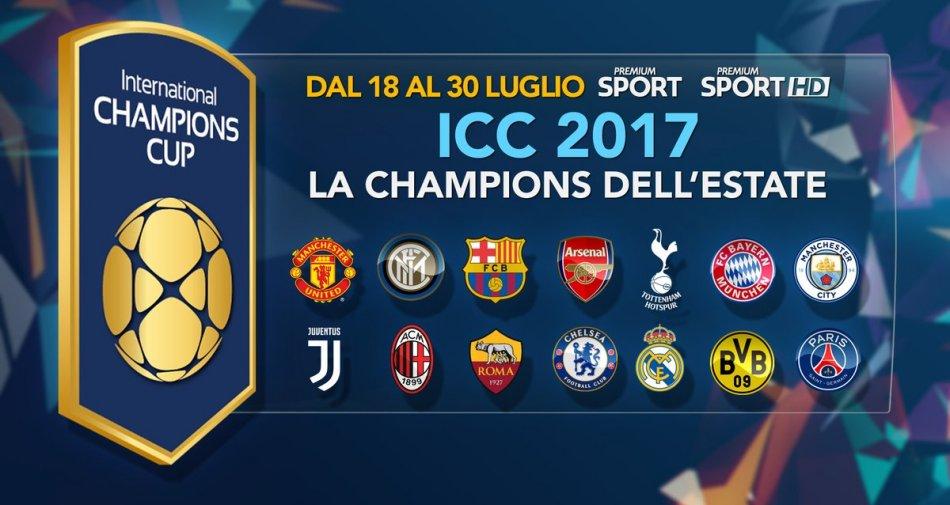 International Champions Cup 2017 | Esclusiva Premium Sport, Programma e Telecronisti