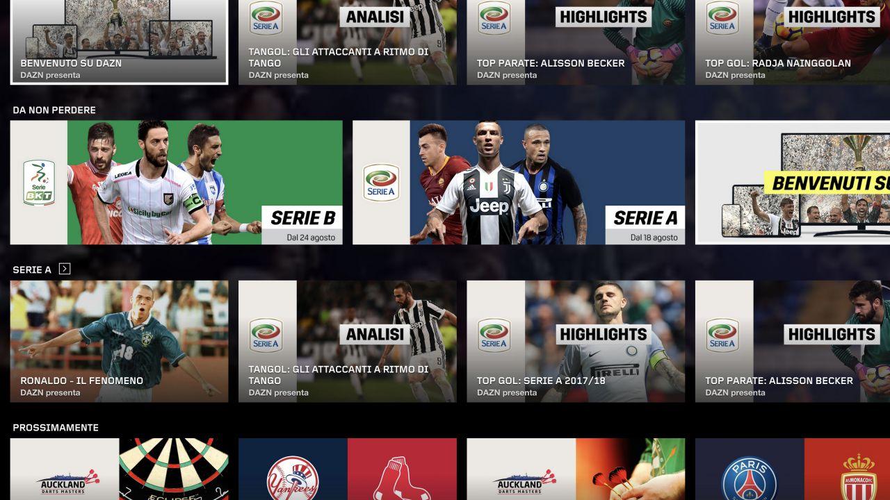 DAZN annuncia dispositivi supportati per inizio della nuova stagione calcistica