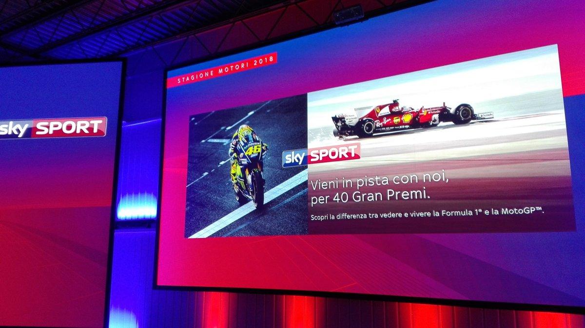 #SkyMotori 2018,  solo su Sky Sport più Gran Premi, più esclusive, più tecnologia
