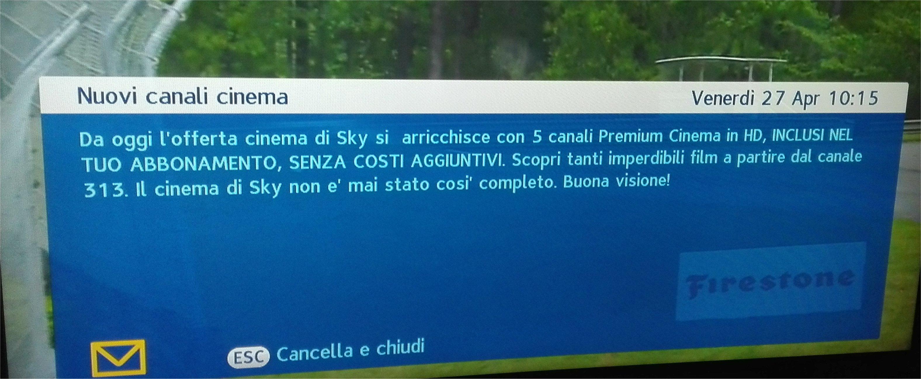 Premium Cinema da oggi su Sky, ecco come cambia la numerazione dei canali