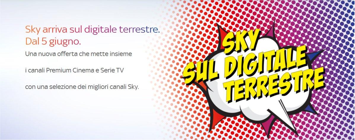 Sky lancia dal 5 Giugno la sua nuova offerta sul digitale terrestre
