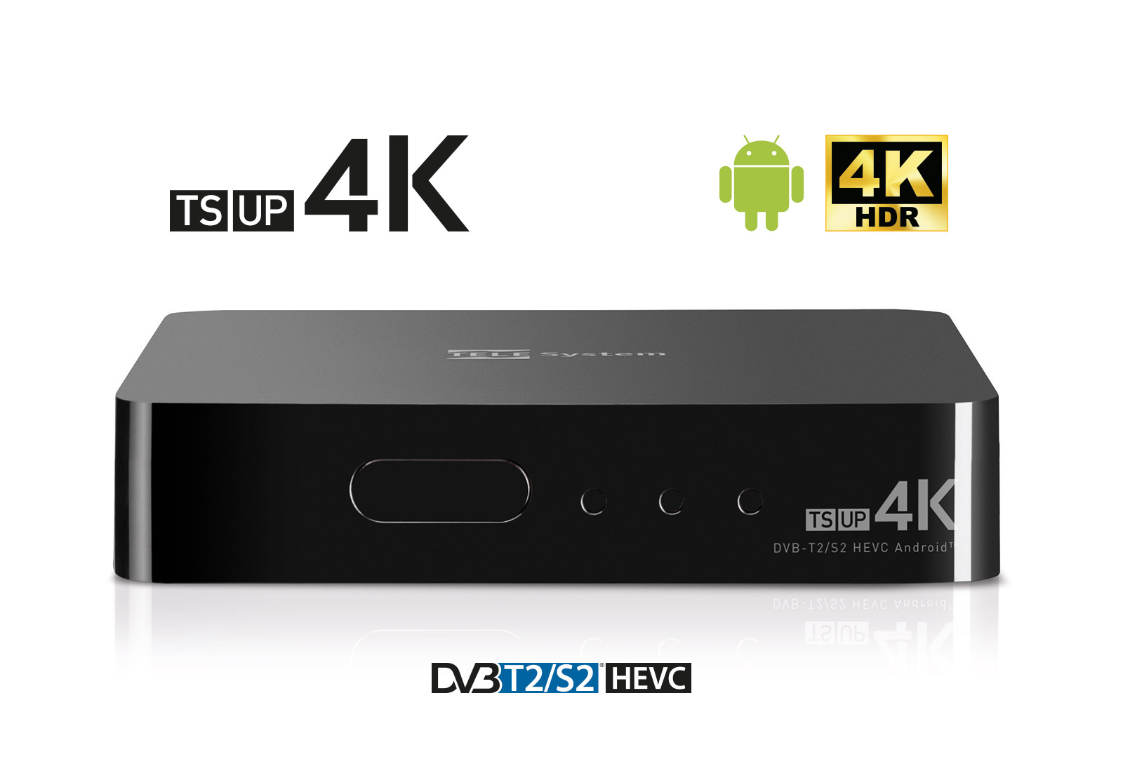 TS UP 4K, aggiornamento software porta nuove app di streamin