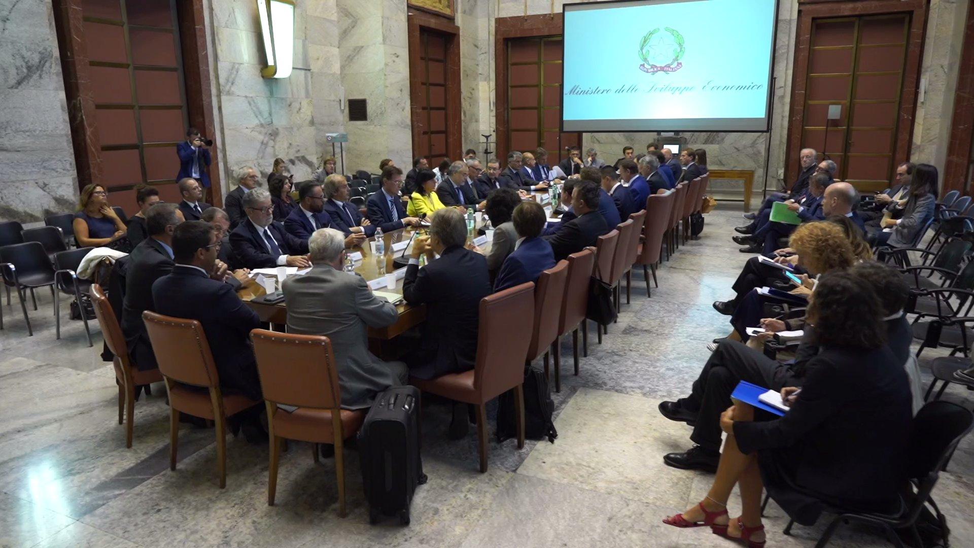 Tavolo di coordinamento TV 4.0, insediamento al MISE con ministro Di Maio