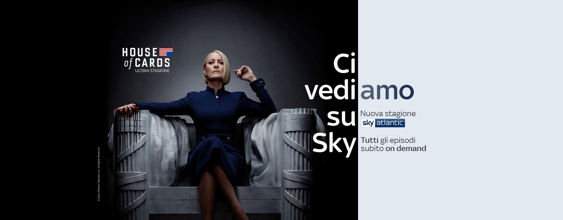 House of Cards 6 da stasera su Sky Atlantic HD e su Box Sets subito tutti gli episodi