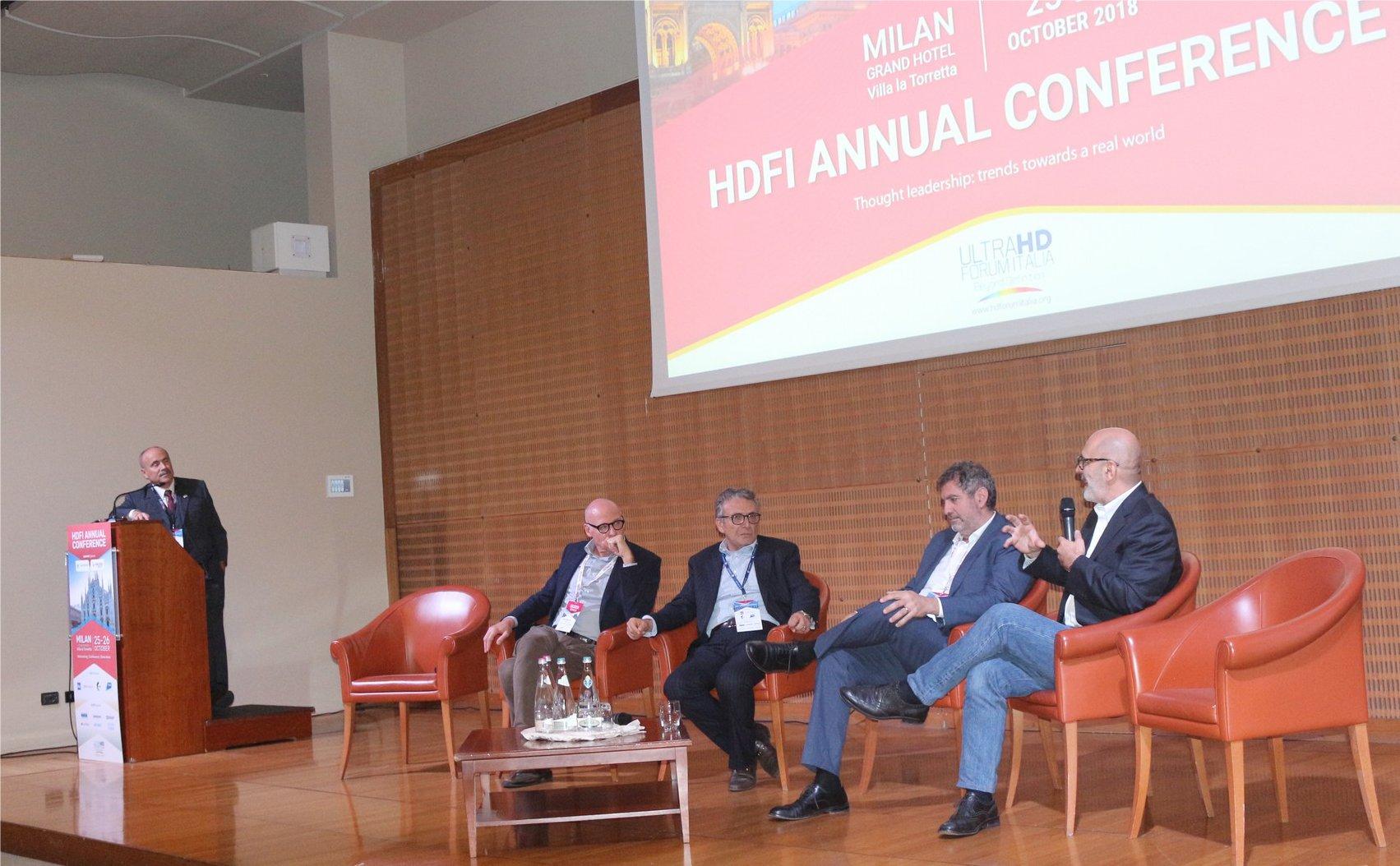 Una foto ricordo della conferenza 2018 HD Forum Italia