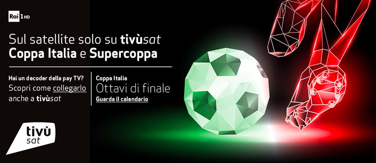 Sul satellite visibile solo su Tivùsat Coppa Italia e SuperCoppa Italiana