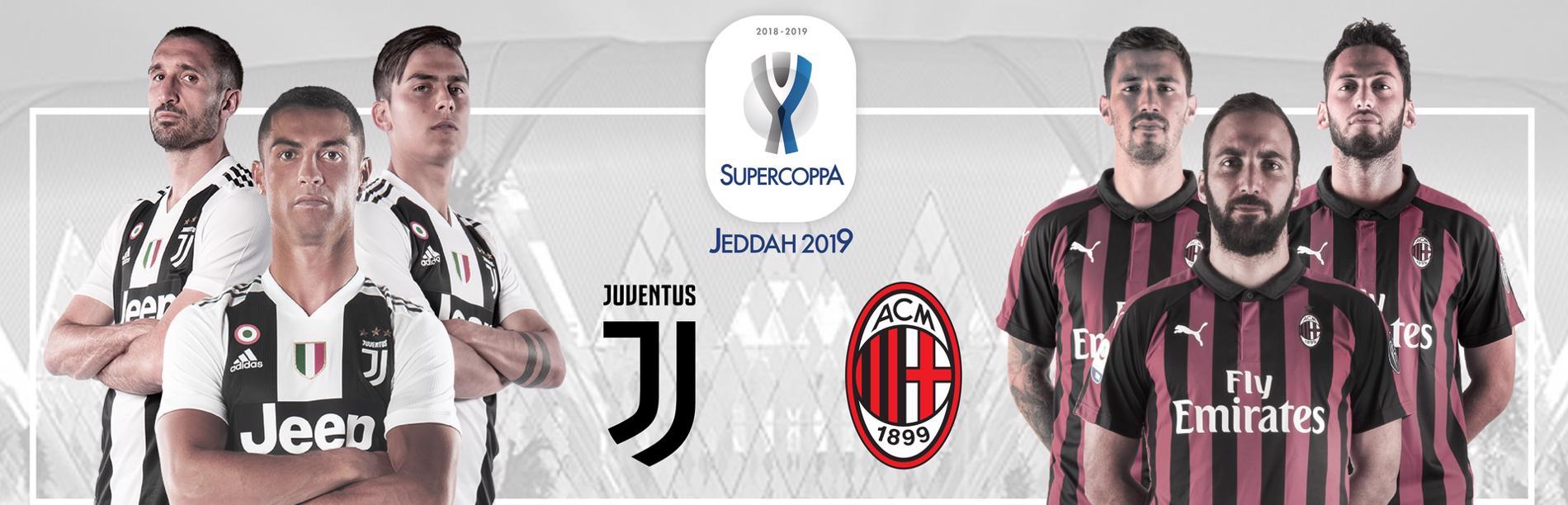 SuperCoppa Italiana Jeddah 2019, Juventus - Milan (diretta ore 18.30 Rai 1 HD)