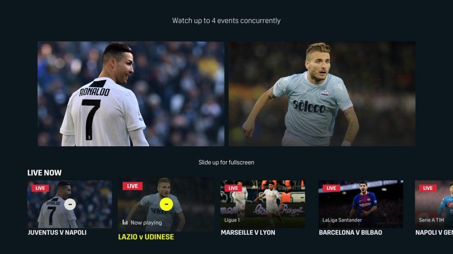 DAZN lancia il servizio MultiView per gli utenti Apple TV