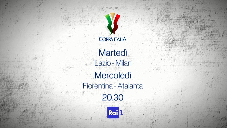 Rai Sport, Coppa Italia 2018/2019, Semifinale Andata - Programma e Telecronisti