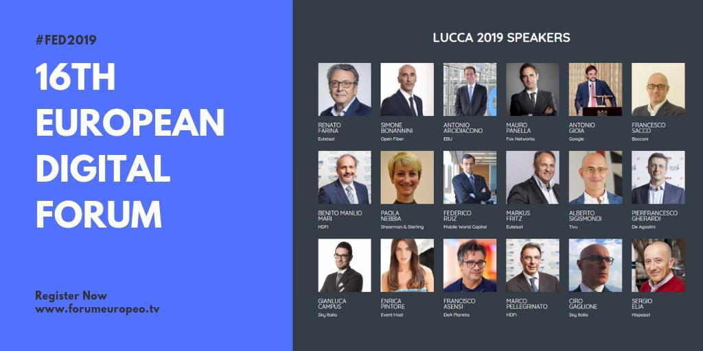 Annunciati i primi 18 speaker #ForumEuropeo Lucca 2019. Aperte le iscrizioni!