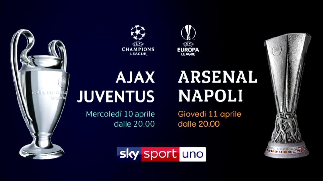 Sky Sport avvicina le emozioni europee con Juventus Day e Napoli Day