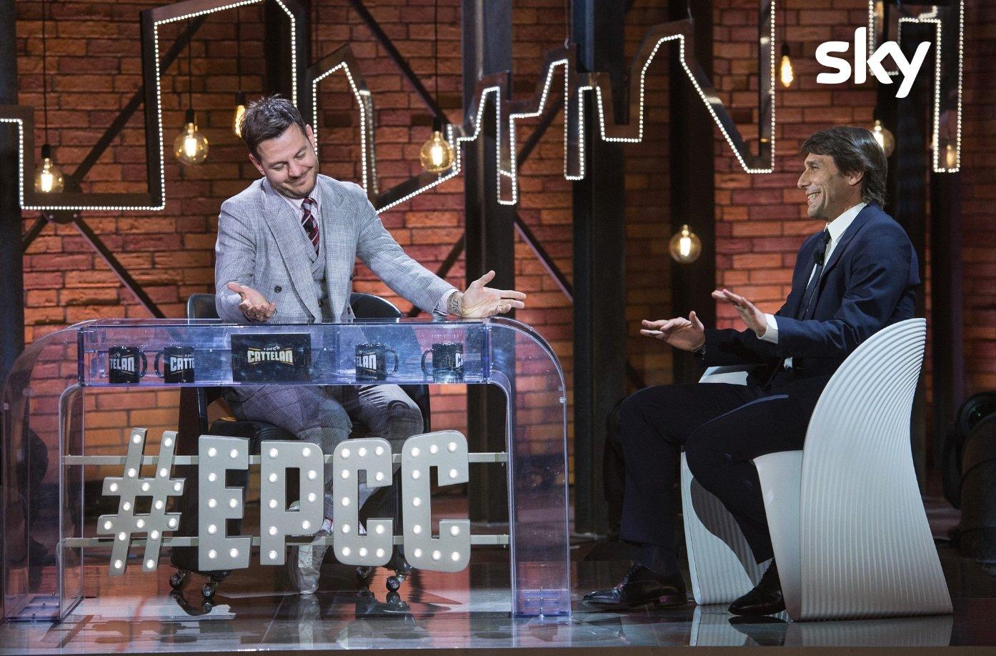 Antonio Conte e Antonella Clerici ospiti stasera ad EPCC su Sky Uno