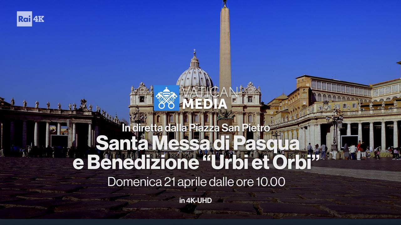 La Santa Messa di Pasqua con Papa Francesco in Ultra HD su Rai 4K